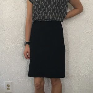Prada black pencil skirt Sz 38